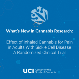 Effect of Inhaled Cannabis for Pain in Adults With Sickle Cell Disease A Randomized Clinical Trial