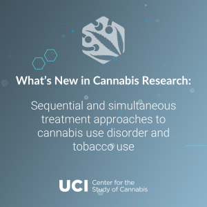 Sequential and simultaneous treatment approaches to cannabis use disorder and tobacco use