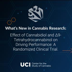 Effect of Cannabidiol and Δ9-Tetrahydrocannabinol on Driving Performance: A Randomized Clinical Trial.