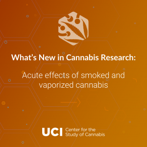Acute effects of smoked and vaporized cannabis